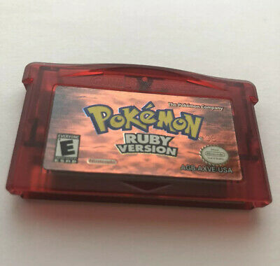 $70 • Buy Pokemon Ruby Version Game Boy Advance Nintendo Authentic Tested Dry Battery