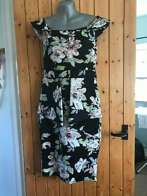 £3 • Buy Womens Stylewise Black Floral Dress Size 14