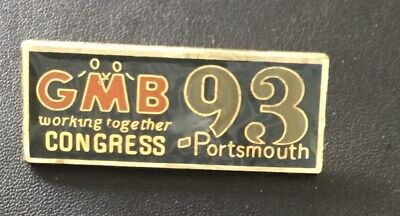 £6.99 • Buy GMB Trade Union Badge 1993 Congress Portsmouth Excellent Condition