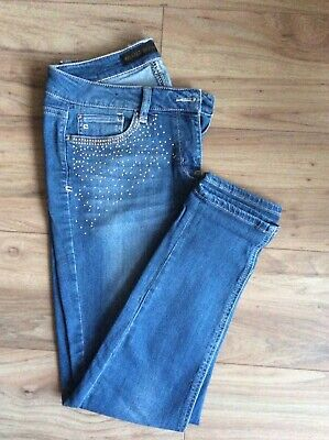 £8 • Buy NEXT Blue Relaxed Skinny Jeans 12R In VGC
