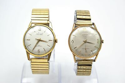 £13.50 • Buy 2 X Vintage Gents Gold Tone ROAMER / ACCURIST WRISTWATCHES Hand-Wind WORKING