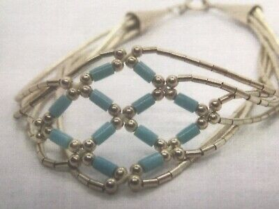 """£37.95 • Buy Navajo """"sterling Silver Native American Indian """"turquoise Bracelet,gift Boxed"""