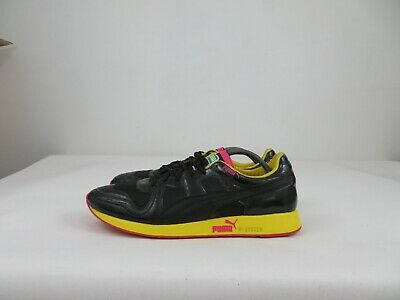 AU68.99 • Buy Puma RS-100 LS Shoes Lace Up Athletic Sneaker Walking Black Yellow Mens 13