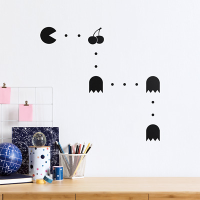 £3.79 • Buy Pacman Map Bedroom Wall Art Stickers Vinyl Wall Decoration Decal Painted Effect