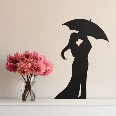 £3.79 • Buy Romantic Kissing Couple Bedroom Wall Art Stickers Edging Wall Decoration Decal