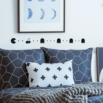 £3.79 • Buy Bedroom Wall Art Stickers Pac Man Dots DIY Wall Decoration Decal Painted Effect
