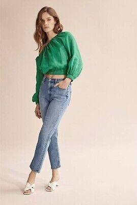 AU30 • Buy Country Road French Linen Green Top Size 6
