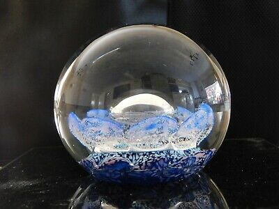 £25 • Buy Selkirk Glass Limited Edition Paperweight 308 Of 500 Signed Space Pearl