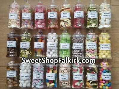 £6.99 • Buy Plastic Victorian Sweet Jar Filled With Pick N Mix Retro Sweets 500ml Size