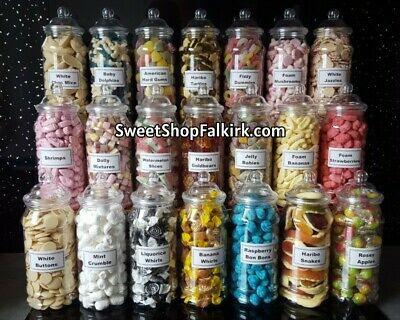 £9.99 • Buy Large 970ml Plastic Victorian Sweet Jar Filled With Pick N Mix Retro Sweets