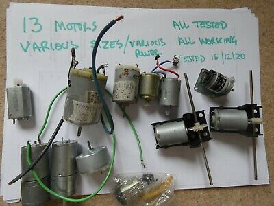 £65 • Buy 13 X  Various  Model Boat Motors-all Tested And Working (large Set)