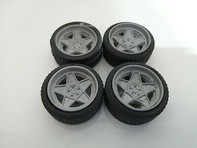 £10 • Buy 1/18 Scale 5 Spoke Dished Wheels Tyres Tunning Styling 3d Printed