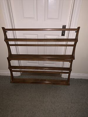 £99 • Buy 2x Ercol  Plate Rack 2 Shelves Blue Label Retro Vintage Pair Wall Mounted