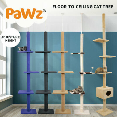 AU59.99 • Buy PaWz Cat Tree Scratching Post Scratcher Tower Condo House Furniture Ceiling High
