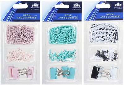 £2.19 • Buy 100 Pc Mixed Stationery Set Push Pins Paper Clips Bull Dog Clips Office