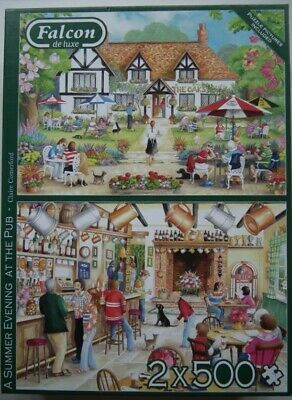 £0.99 • Buy  Summer Evening At The Pub  Falcon 2 X 500 Piece Jigsaws - Excellent Condition.