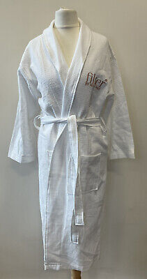 AU9.44 • Buy Womens Filter By Molly-Mae White Waffle Dressing Gown Robe Size Small