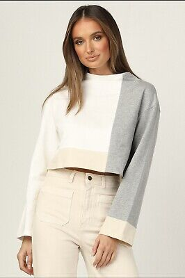 AU10 • Buy Runway Scout Forever New Fashion Long Sleeve Block Colour Top Size 6