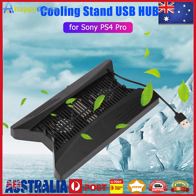AU22.59 • Buy Vertical Stand Cooling Fan Dock W/3 SB HUB For Playstation PS4 Pro Console
