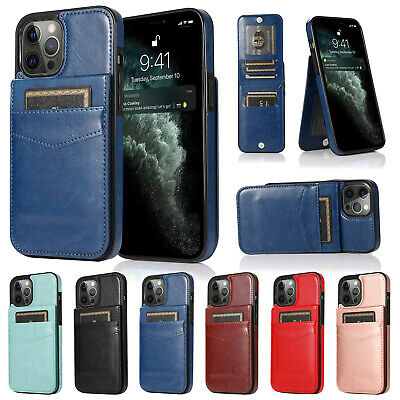 AU12.99 • Buy For IPhone 13 Pro Max 12 11 XS XR X 8 7+ Leather Wallet Card Holder Case Cover