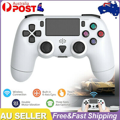 AU38.59 • Buy Wireless Controller For PS4 Pro Slim Dual Motor Vibration 6-Axis Gyro White AU.
