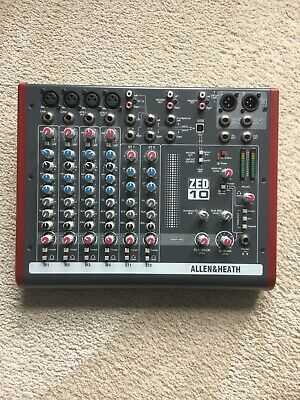 £135 • Buy Allan And Heath ZED 10 Mixer Absolutely Mint Condition