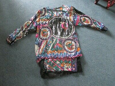 AU31.57 • Buy Women's Multi-colored Sequin Cocktail Dress-size Large-judith Ann Creations