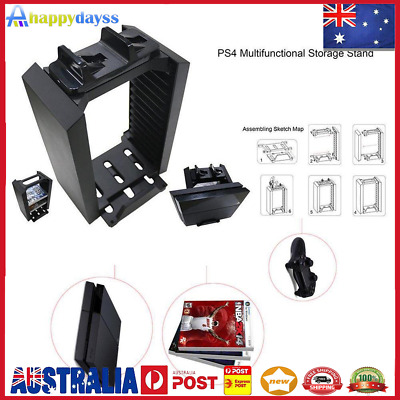 AU39 • Buy Vertical Stand Cooling Fan With Game Storage For PS4 Pro Slim Xbox One
