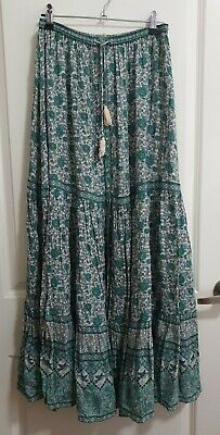 AU300 • Buy SPELL & THE GYPSY Kombi Button Down Maxi Skirt In Sage, Size S