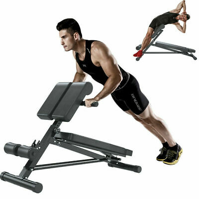 £61.99 • Buy Folding Back Hyper Extension Exercise Bench Hyperextension Fitness Roman Chair