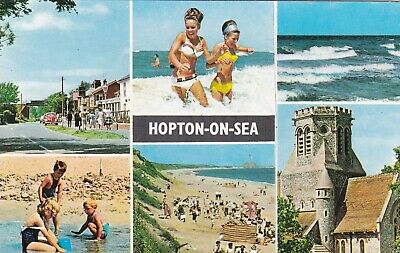 £1.30 • Buy Hopton On Sea Norfolk Multiview Constance Postcard Posted 1980 VGC