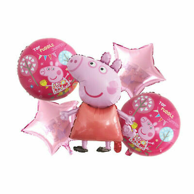 £5.59 • Buy 5pcs PEPPA PIG George Foil Balloons Birthday Party Decoration Air Helium Fill