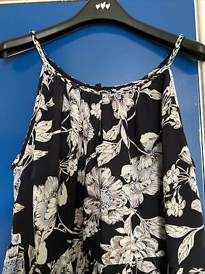 AU18.80 • Buy Yours Clothing Navy Floral Patterned Maxi Dress Size 20