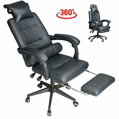 £59.90 • Buy Executive Racing Gaming Office Chair Swivel Recliner Computer Desk Chair Leather