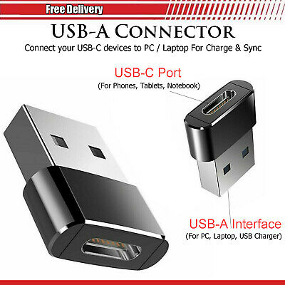 £2.95 • Buy Fast USB-C To USB-A Charger Sync Connector Adapter For IPhone 13 Pro Max 13 Mini