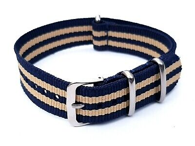 £6.99 • Buy New 18mm Nylon Watch Strap Band Army Military Unisex Style Blue Beige
