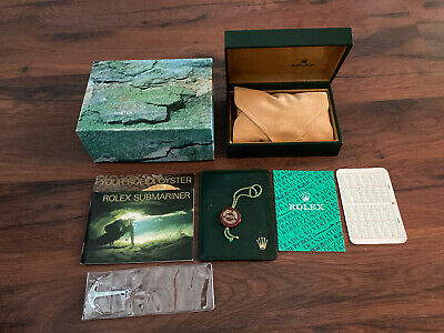 £300 • Buy RARE 1994 Rolex Submariner 14060 16610 Inner Outer Display Box Set Set Anchor