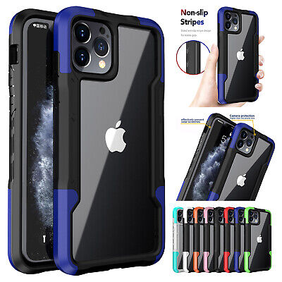 AU11.99 • Buy For IPhone 13 Pro Max 12 11 XS XR 8 7 Shockproof Hybrid Bumper Clear Case Cover