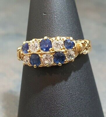 AU1112.66 • Buy 18ct Gold Vintage Diamond And Sapphire Ring