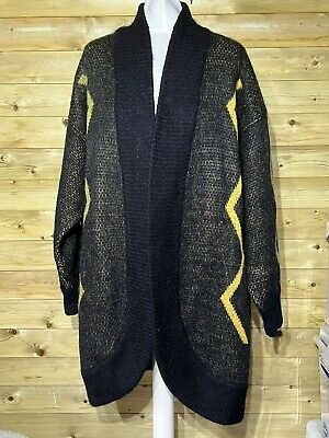 £39.99 • Buy Vintage Excel Chunky Knit Aztec Style Cardigan Size M-L