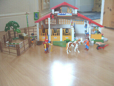 £54.95 • Buy Playmobil 100% Complete Set 4190 Large Horse Farm Pony Stables