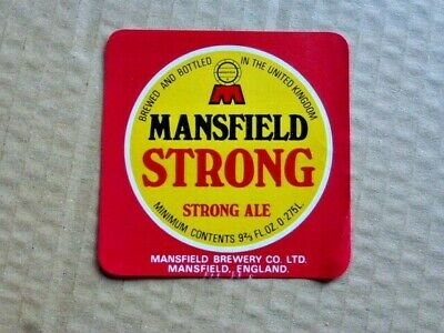 £1.25 • Buy Mansfield Brewery   Strong     Beer Bottle Label  Unused ( A 87 )