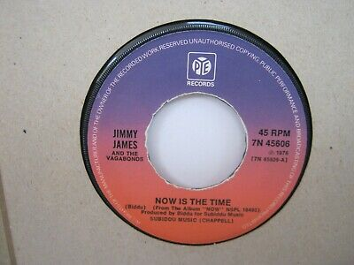 """£3 • Buy Record 7"""" Single Jimmy James Now Is The Time 2097"""