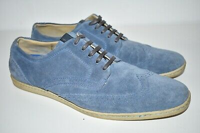 £22.99 • Buy Mens Fred Perry Jacobs Blue Suede Brogue Lace Up Shoes B9045/379 UK 9.5 EU 44