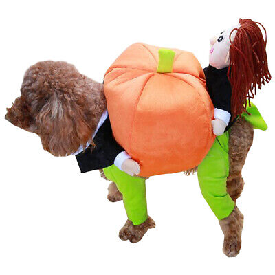 £9.98 • Buy Pet Cat Dog Puppy Clothes Pumpkin Halloween Costume Christmas Party Fancy Outfit