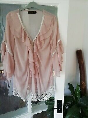 £5 • Buy Pussycat London Blouse Top Pink Size Small