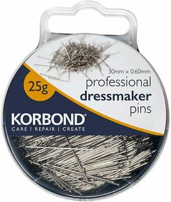 £3.50 • Buy KORBOND 25g Professional Dressmaker Pins With Case Extra Fine Sewing 190009