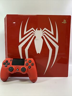 AU511.81 • Buy Sony PlayStation 4 Pro PS4 Marvel's Spider-Man 1TB Limited Edition Red Console