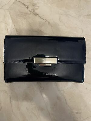 £12.99 • Buy Aspinal Of London Navy Patent Clutch Purse