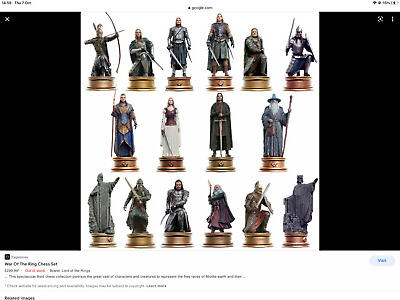 £6.99 • Buy Eaglemoss Lord Of The Rings Chess Figurines From Sets 1/2/3 New And Boxed.